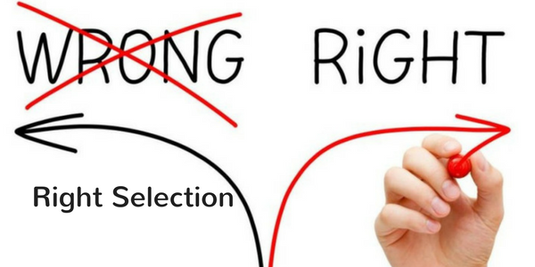 right selection